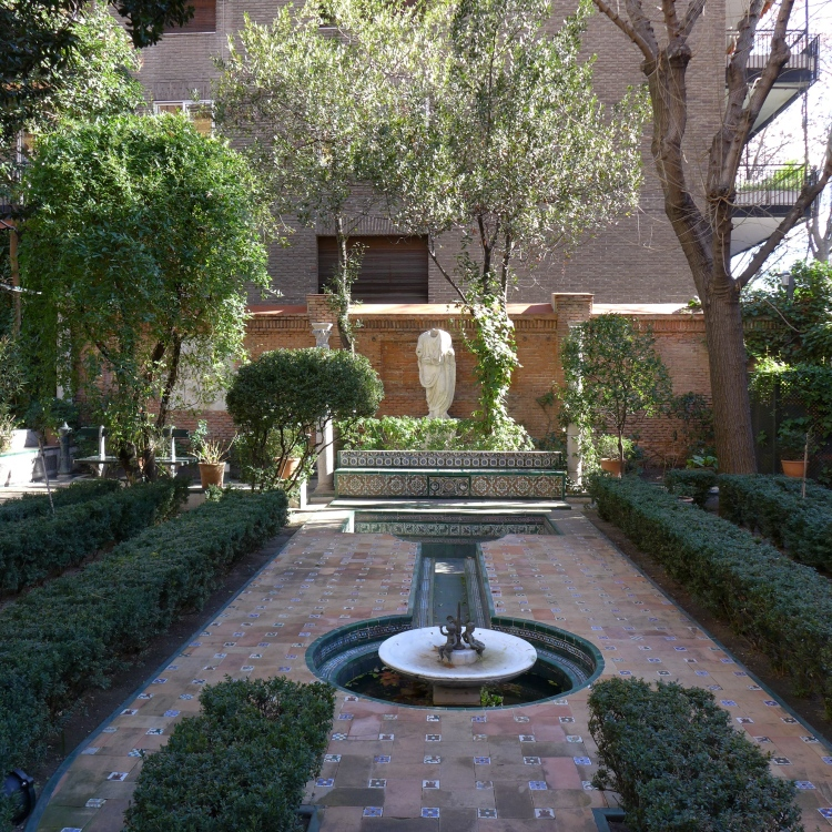 Sorolla Museum's garden, pretty even in the winter.