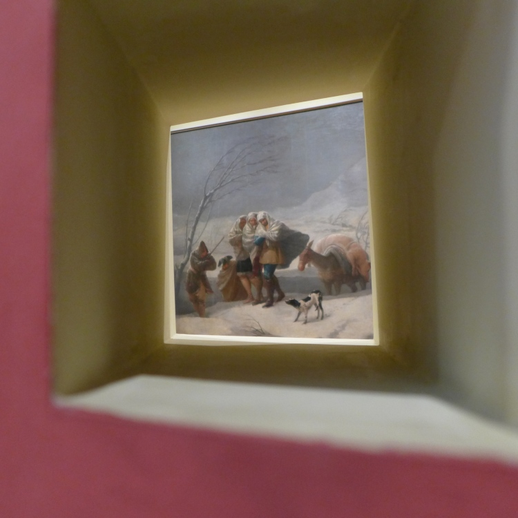 Peep window into Goya's Winter Scene. The Prado Museum.
