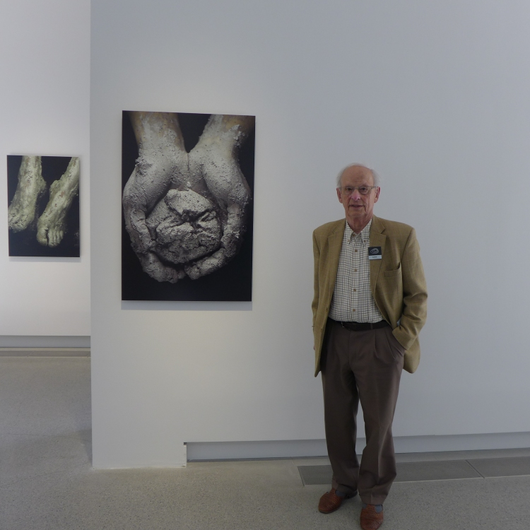 Björn Jakobson in the Art Hall featuring the exhibition