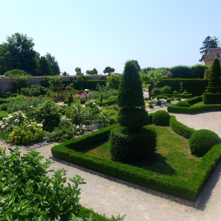 Garden at the Chateau de Pommard.