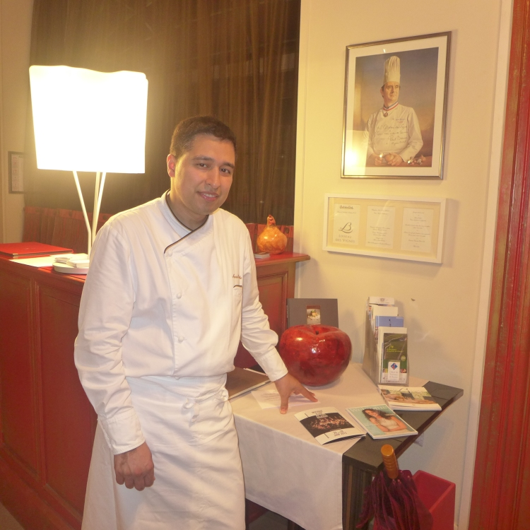 The chef at Loiseau des Vignes, Mourad Haddouche.