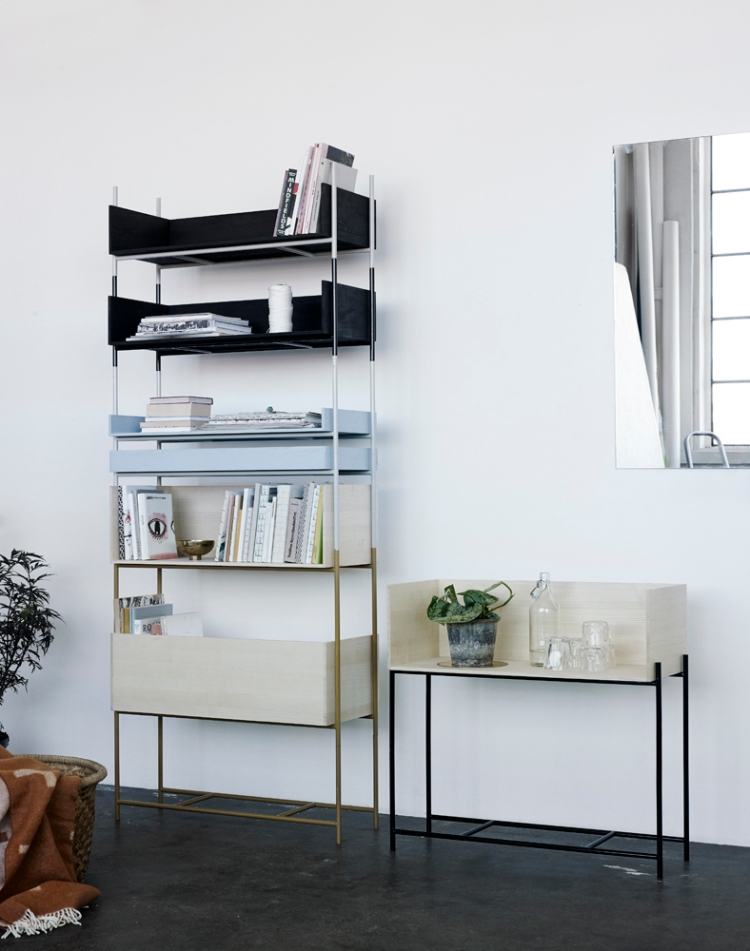 Vivlio shelves in collaboration with Margrethe Odgaard for Skagerak.