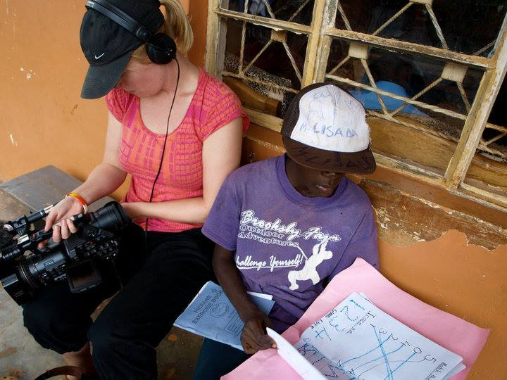 Filming an orphanage in Uganda in 2010. The Children at the Orphanage are trained to form their own Brass Band, earning money playing at functions.