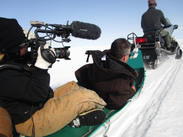 Filming during Rufus Gifford's trip to Greenland.