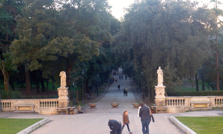 View of the Borghese Gardens from the Galleria Borghese. V Söderqvist Blog.