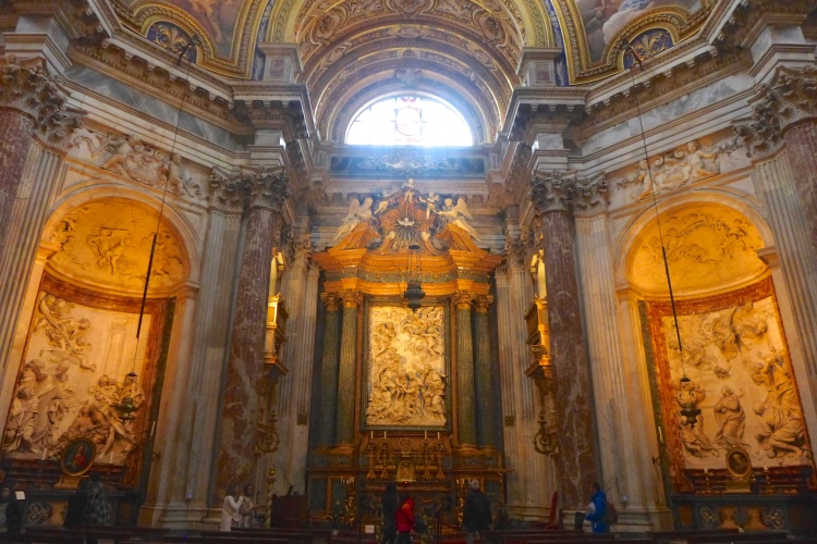 Sant'Agnese in Agone in the Piazza Navona, 17th Century Baroque Church by Borromini.
