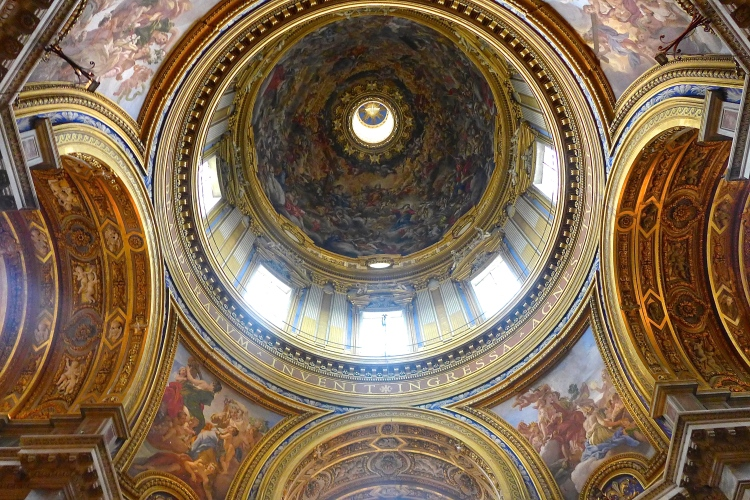 Sant'Agnese in Agone at Piazza Navona, the cupola of the 17th century Baroque church.