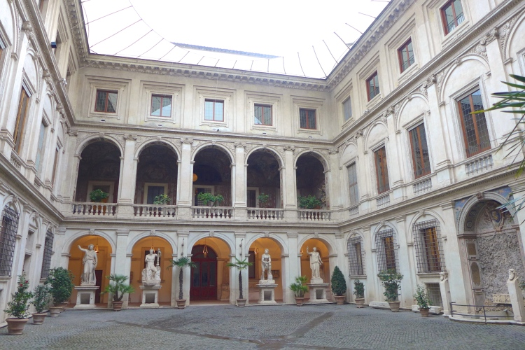 Courtyard of the 15th Century Palazzo Altemps.