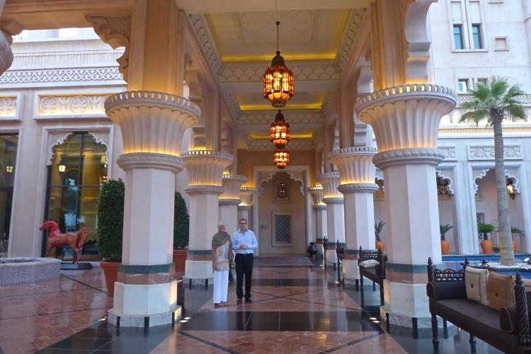 The palatial Al Qasr hotel.