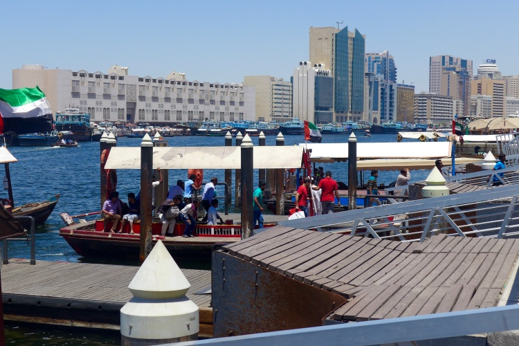 The water taxis, Abra that get you across the Dubai Creek.
