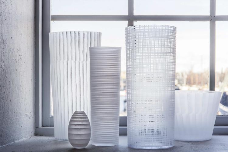Painted Glass, Orrefors. Ingegerd Råman.