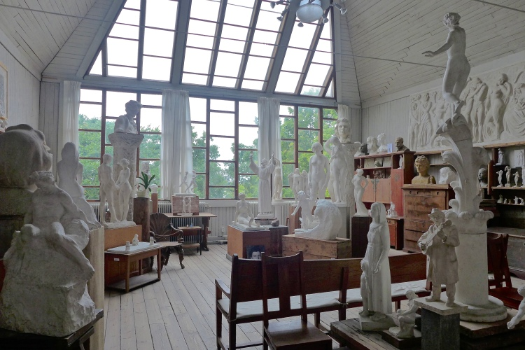 Home and Atelier of Sculptor Carl Eldh, open only in the summer. A beautiful contemplative space. Carl Eldh Atelier.