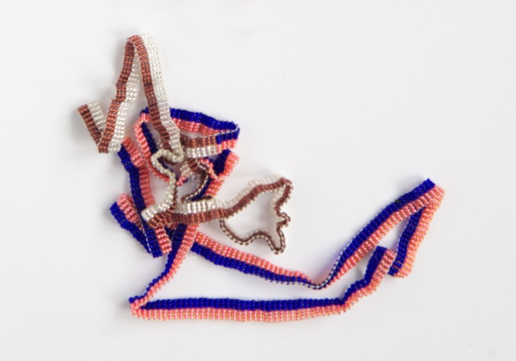 Ribbon Necklace. Editions in Craft workshop with a group of women from KwaZulu-Natal in South Africa, who work with traditional beadwork. Margrethe Odgaard, V Söderqvist Blog