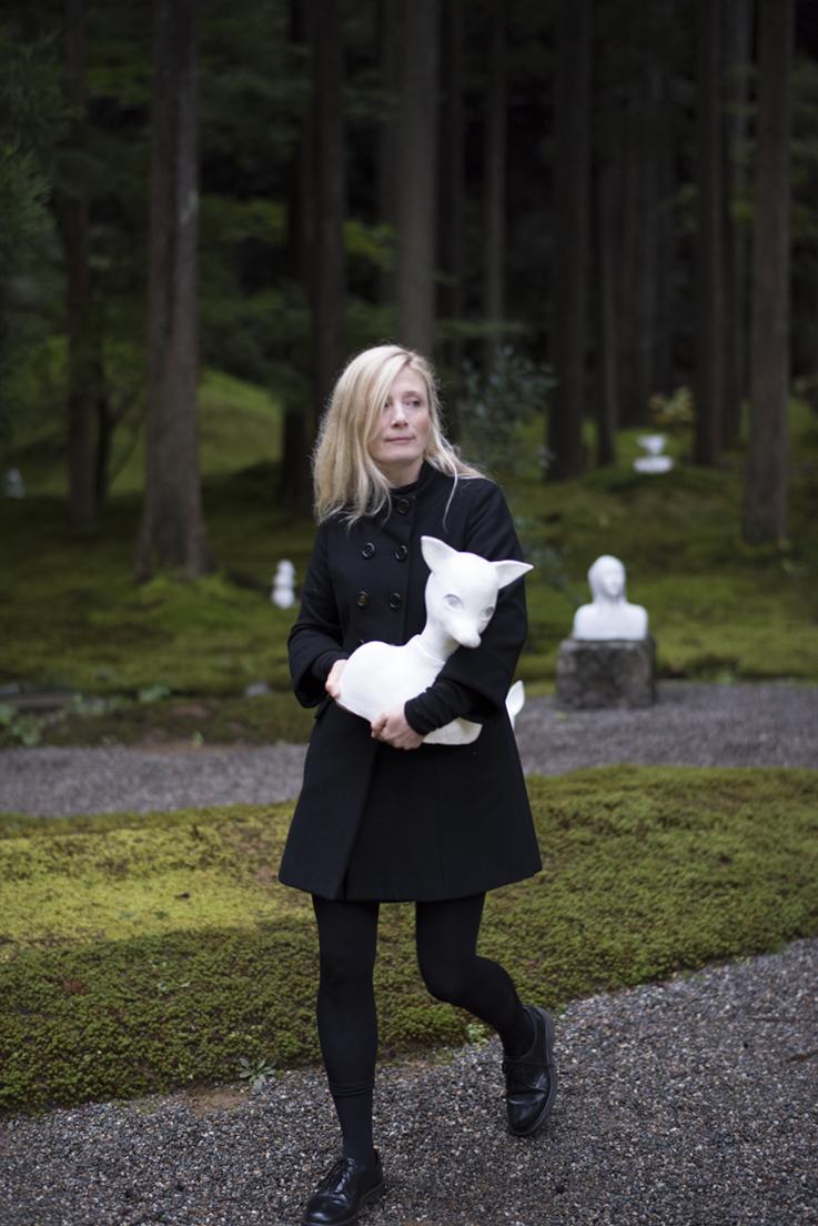 "Karin Wiberg in the Moss Garden ""The Forest of Wisdom"", Komatsu, Japan. Photo: Gustav Karlsson Frost / Frosty"