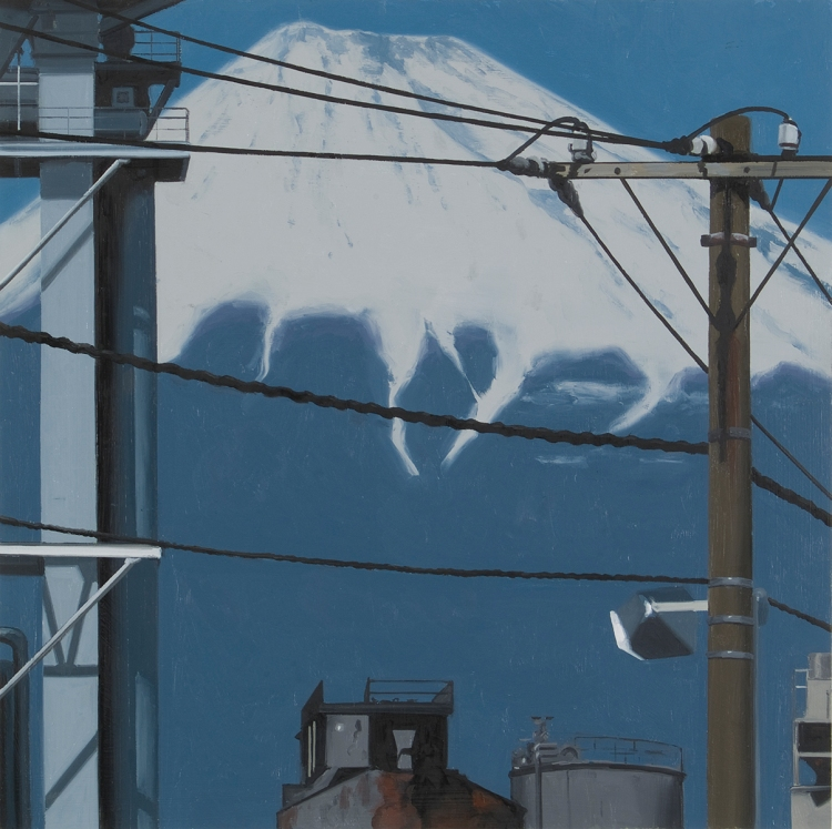 Martin Wickström - Fuji 32. An homage to Hokusai and a depiction of contemporary Japan, Wickström's 36 Views of Mt. Fuji from 2009. Photo: Tord Lund. V Söderqvist Blog.